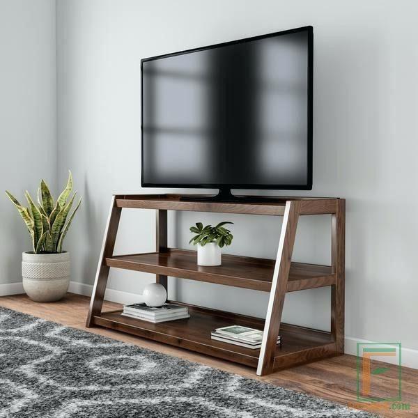 Meja Tv Minimalis Kayu Jati Desain Simpel Furnibel Com