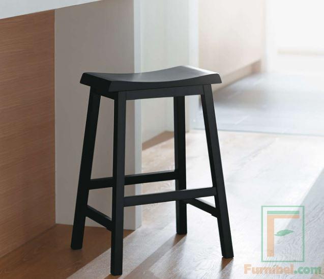 Kursi Bar Persegi kayu solid