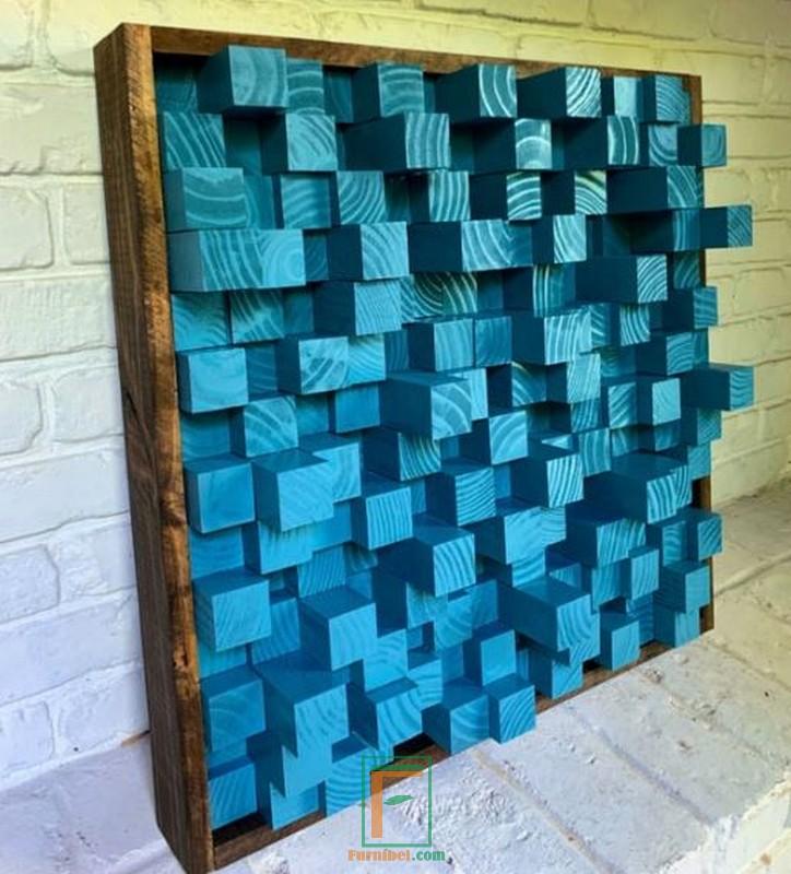 » Jual Hiasan Dinding Minimalis Kayu Kotak-kotak Panjang ...