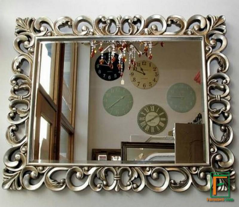 Jual Frame Cermin Ukir Kayu Solid Ruang Tamu