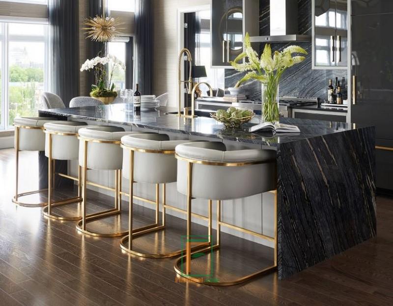 Kursi Bar Stainless Minimalis Lengkung