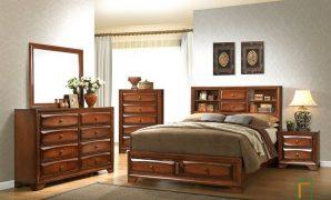 Set Kamar Tidur Minimalis Coklat Natural