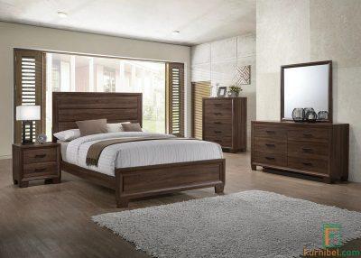 Set Tempat Tidur Kayu Solid Jati Hotel Jakarta