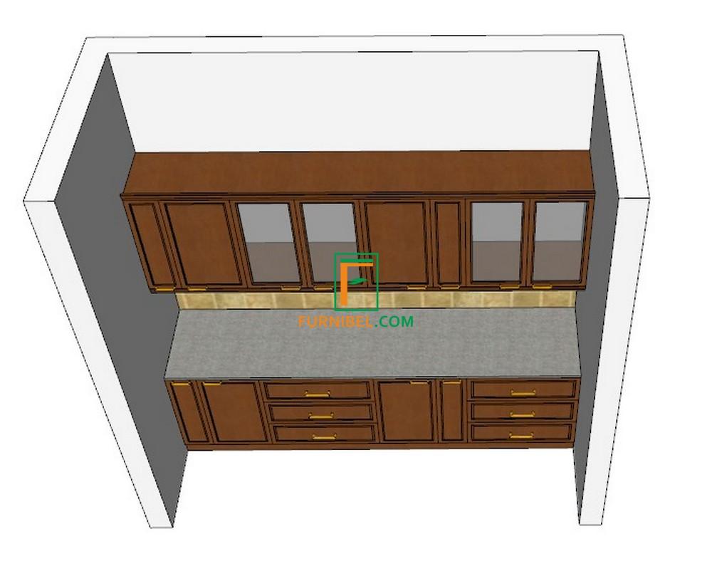 Custom kitchen set lurus (tanpa sudut)