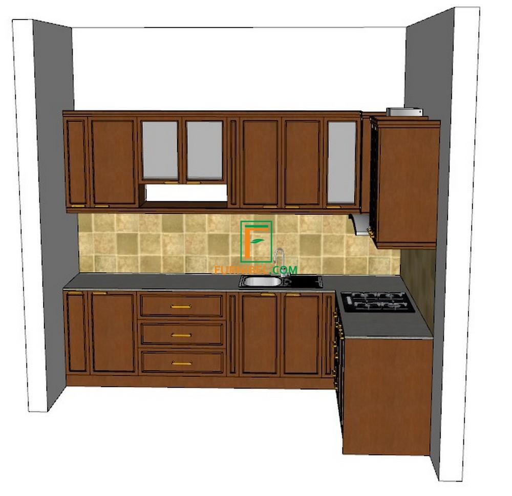 Custom kitchen set sudut ruangan