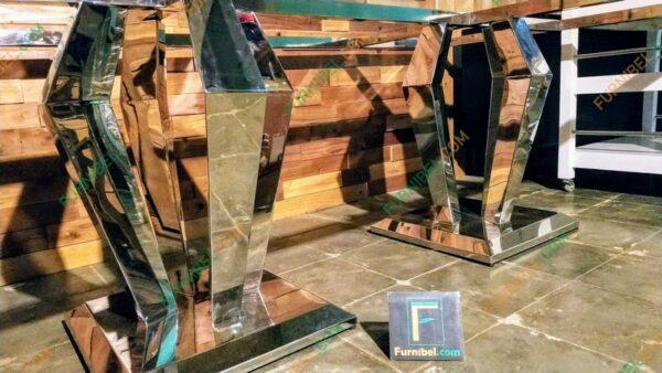 Meja Makan Marble Stainless Granit Custom Top