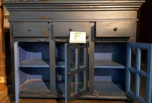 bufet pendek meja konsul vintage biru (2)