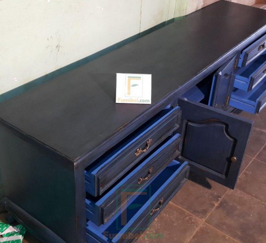 meja tv vintage biru (1)